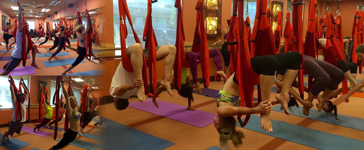 flying yoga trapeze